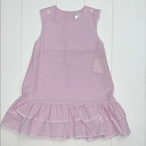 Pink And White Check Seersucker Dress Size 2T